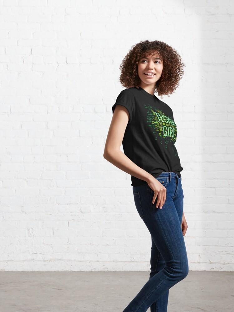 Alternate view of TECHie GIRL Digital Green Classic T-Shirt