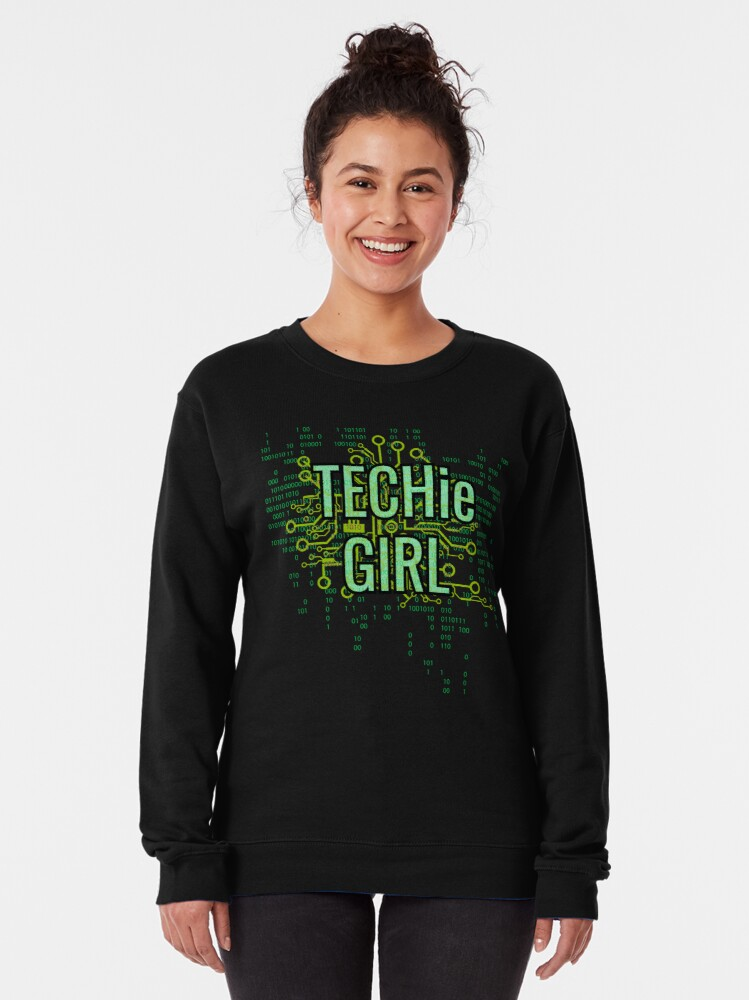 Alternate view of TECHie GIRL Digital Green Pullover Sweatshirt