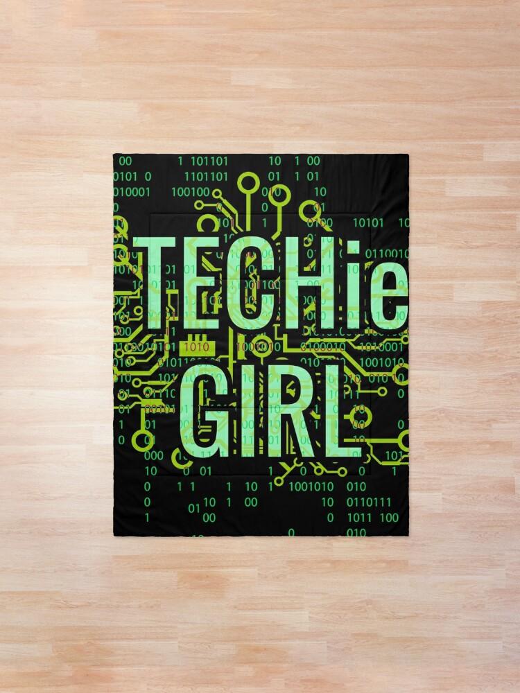 Alternate view of TECHie GIRL Digital Green Comforter