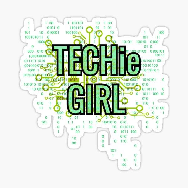 TECHie GIRL Digital Green Sticker