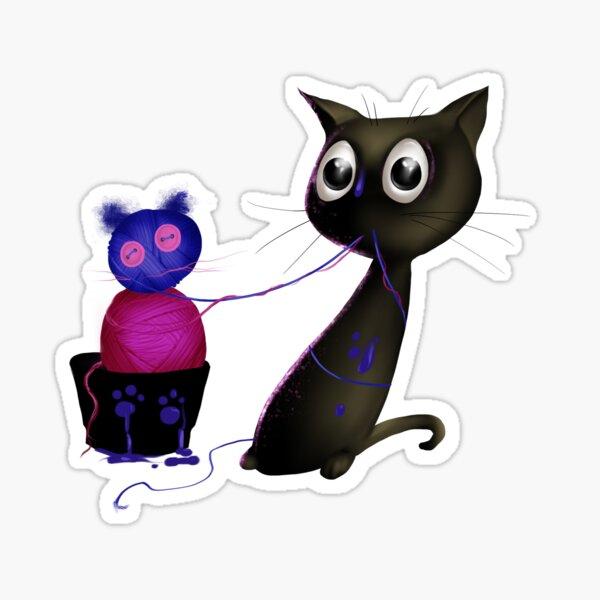 Schwarzes Kätzchen - Make & Believe Sticker
