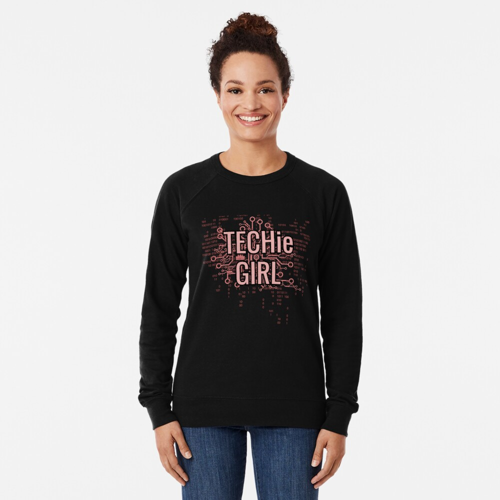TECHie GIRL Cyber Pink Lightweight Sweatshirt