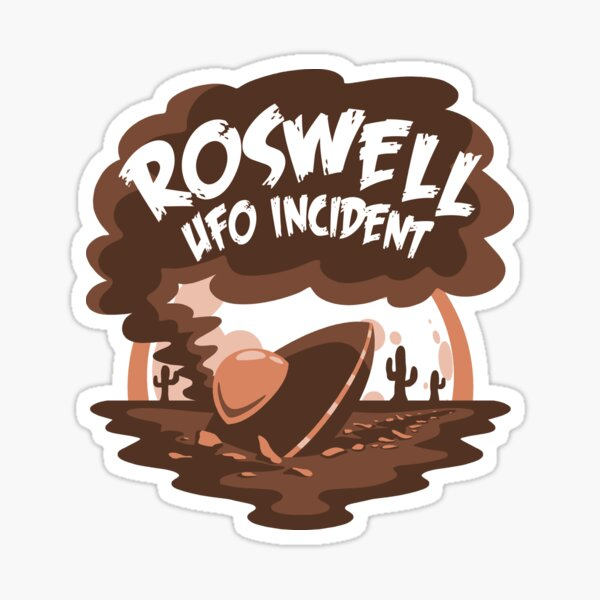 """""""RAAF Captures flying Saucer On Ranch in Roswell Region"""" Sticker"""