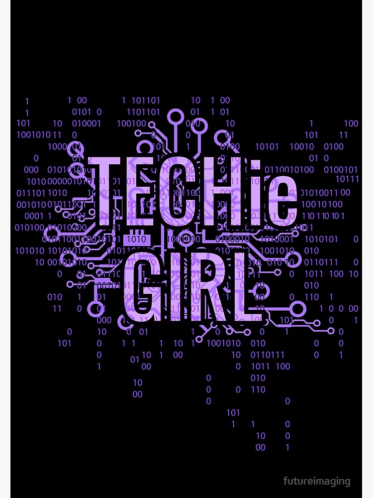 TECHie GIRL Cyber Purple by futureimaging