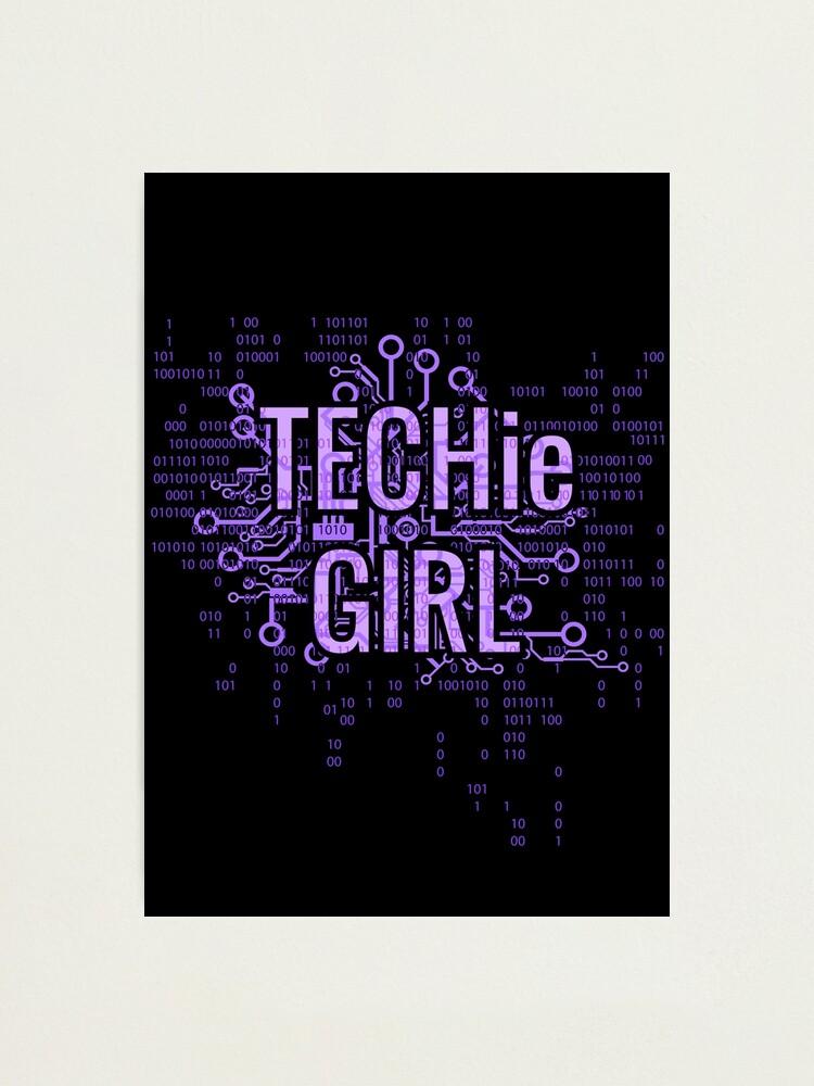 Alternate view of TECHie GIRL Cyber Purple Photographic Print