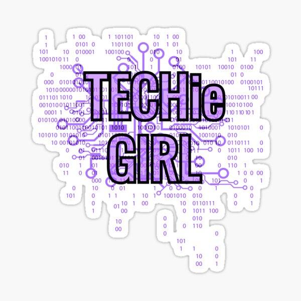 TECHie GIRL Cyber Purple Sticker