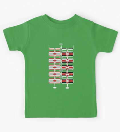 Retro Mod Ogee Red & Black Abstract Pod Pattern Kids Clothes