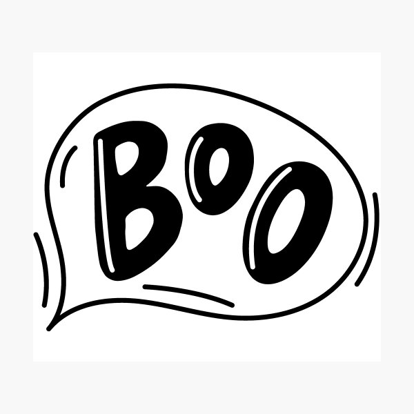 Cute Boo Ghost  Photographic Print