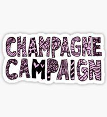 Champagne Campaign  Sticker