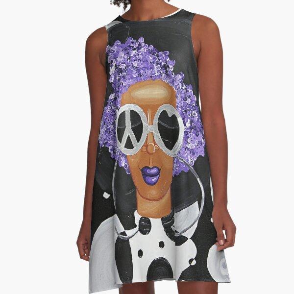 PEACE LOVE POLKA DOTS A-Line Dress