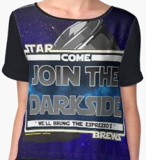 Come join the Darkside - The Coffee Wars - Jeronimo Rubio Photography and Art 2016 Chiffon Top