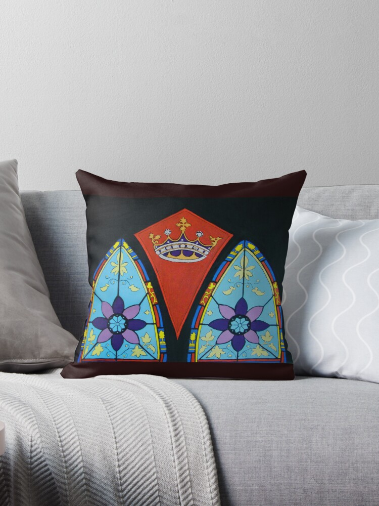 Stained Glass Pillow and Tote by Shulie1