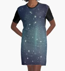 Starry Sky Graphic T-Shirt Dress