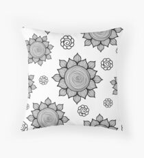 Foral pattern. Doodle art Throw Pillow