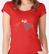 Magical Snowflakes Fairy Women's Fitted Scoop T-Shirt