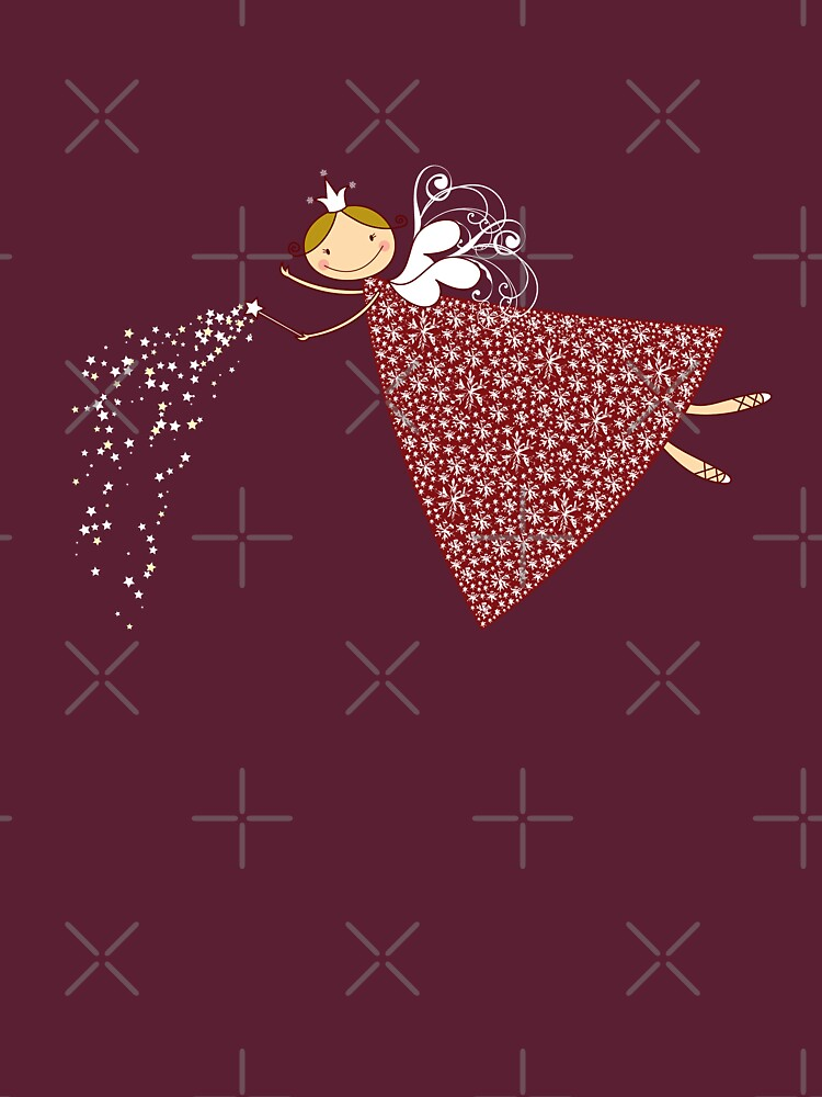 Whimsical Magical Snowflakes Fairy | Women's T-Shirt