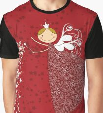 Magical Snowflakes Fairy Graphic T-Shirt