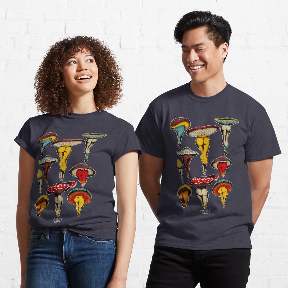 Sexy mushrooms tattoo flash Classic T-Shirt
