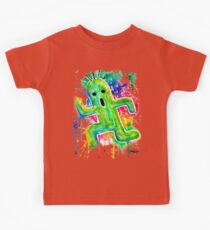 Cute Cactuar - Running Watercolor - Final fantasy - Jonny2may - Awesome!  Kids Tee