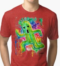 Cute Cactuar - Running Watercolor - Final fantasy - Jonny2may - Awesome!  Tri-blend T-Shirt