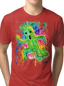 Cute Cactuar - Running Watercolor - Final fantasy - Jonny2may - Awesome!  Tri-blend T-Shirt