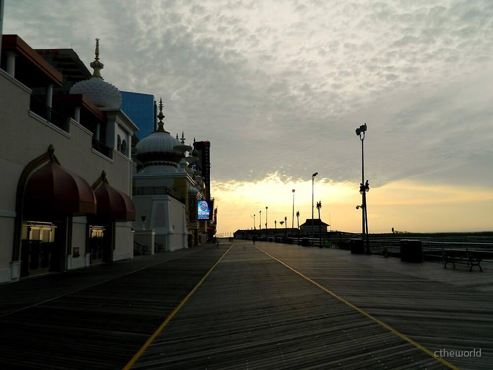 Early Morning Boardwalk - AC by ctheworld