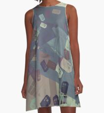Call Box Chaos (Subdued) A-Line Dress