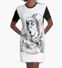 Mad Hatter - Alice in Wonderland Graphic T-Shirt Dress