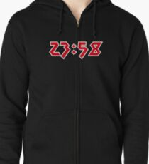 23:58 Two Minutes to Midnight Zipped Hoodie