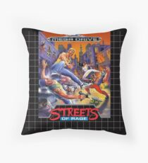 Streets of Rage Mega Drive Cover Throw Pillow