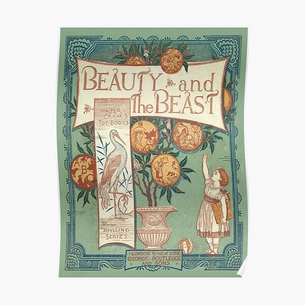 Beauty & The Beast - Walter Crane's Toy Books Poster