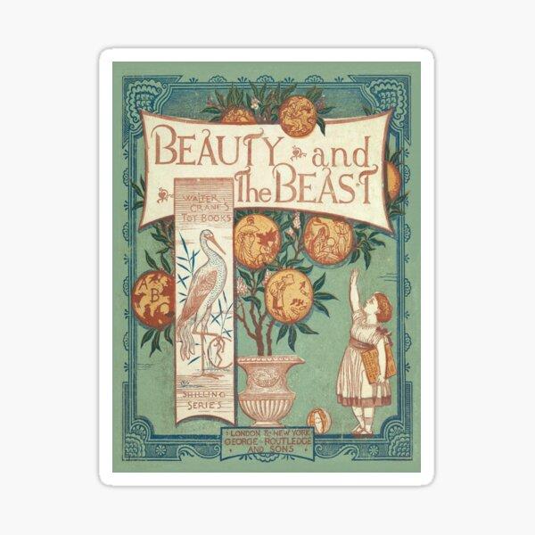 Beauty & The Beast - Walter Crane's Toy Books Sticker