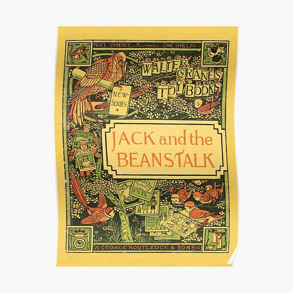 Jack & The Beanstalk - Walter Crane's Toy Books Poster