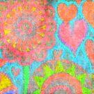 Flower on wall by LiaBernini