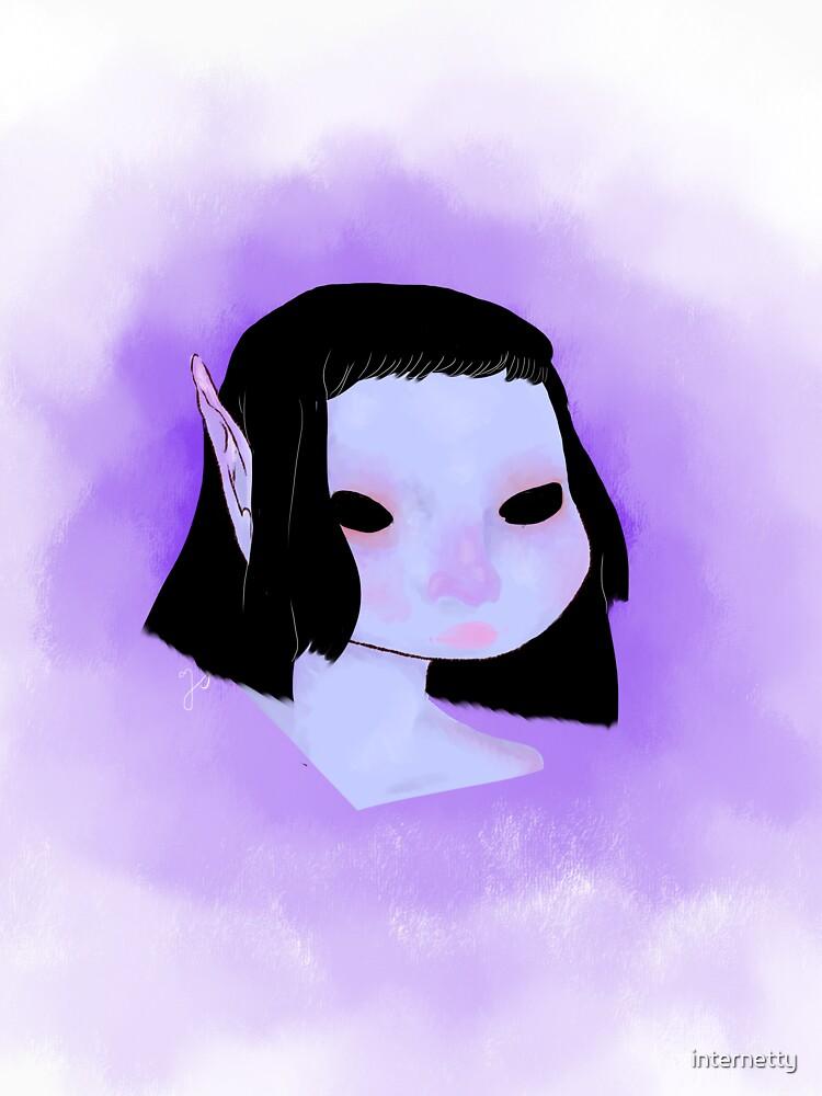 dark animu elf by internetty