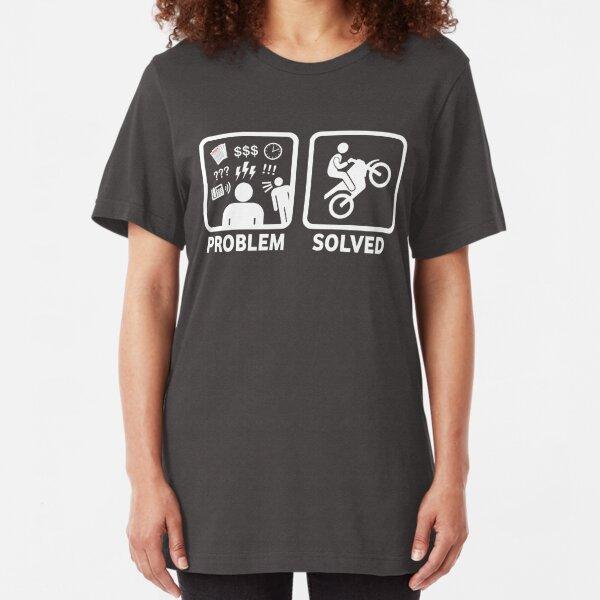 Problem Solved Motorbike T Shirt Slim Fit T-Shirt