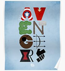 Avengers Typography Poster