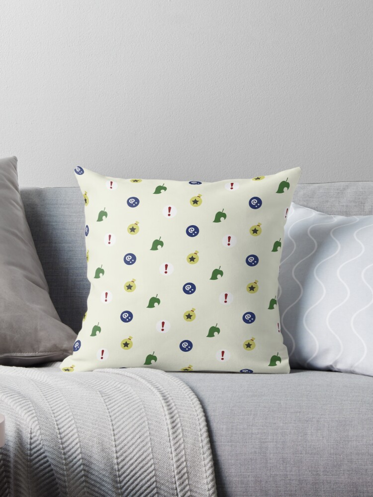 Animal Crossing icons textile by jcohendesign