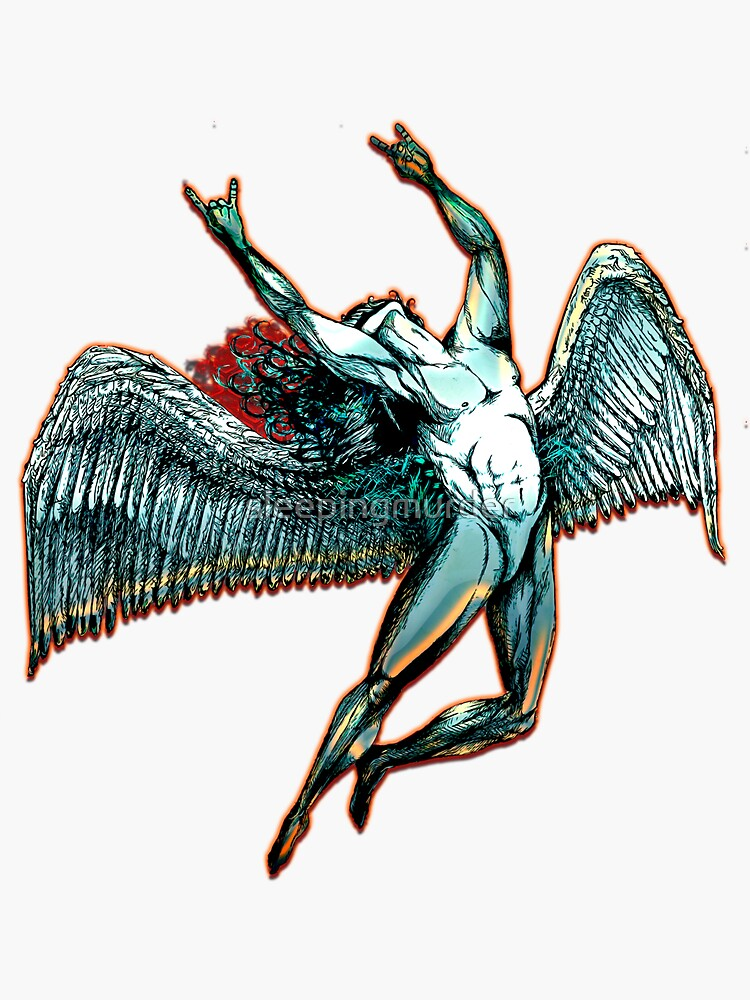 ICARUS THROWS THE HORNS - dark shadows  *awesome UNLISTED designs in my portfolio* by sleepingmurder