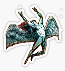 ICARUS THROWS THE HORNS - dark shadows ***FAV ICARUS GONE? SEE BELOW*** Sticker