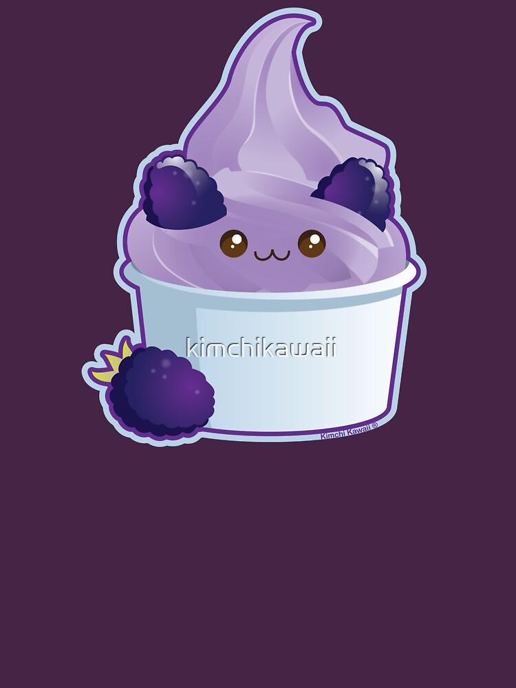 Cute Blackberry Frozen Yogurt Ice Cream Bear by kimchikawaii