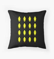 Bee's Knees Honeycomb Girls (Greeting Card, Shirt, Pillow, Tote) Throw Pillow