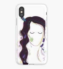 "Siberia Beauty - ""Altai Princess"" Drawing Art isolated on White iPhone Case/Skin"