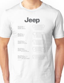 Jeep Grille Lineup Unisex T-Shirt