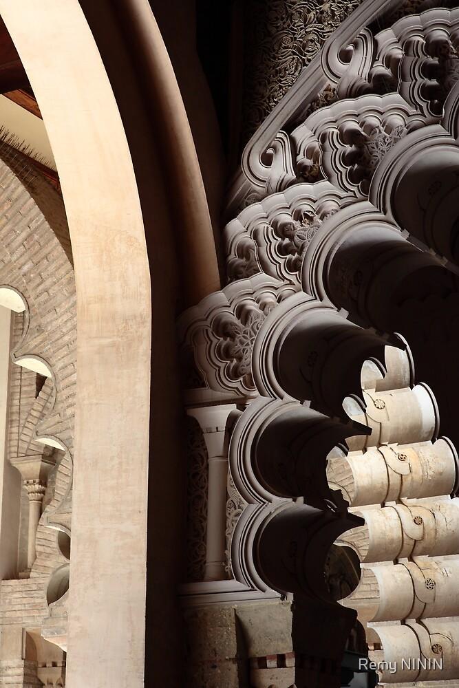 Arches, Aljaferia Palace, Zaragoza, Spain. by Remy NININ