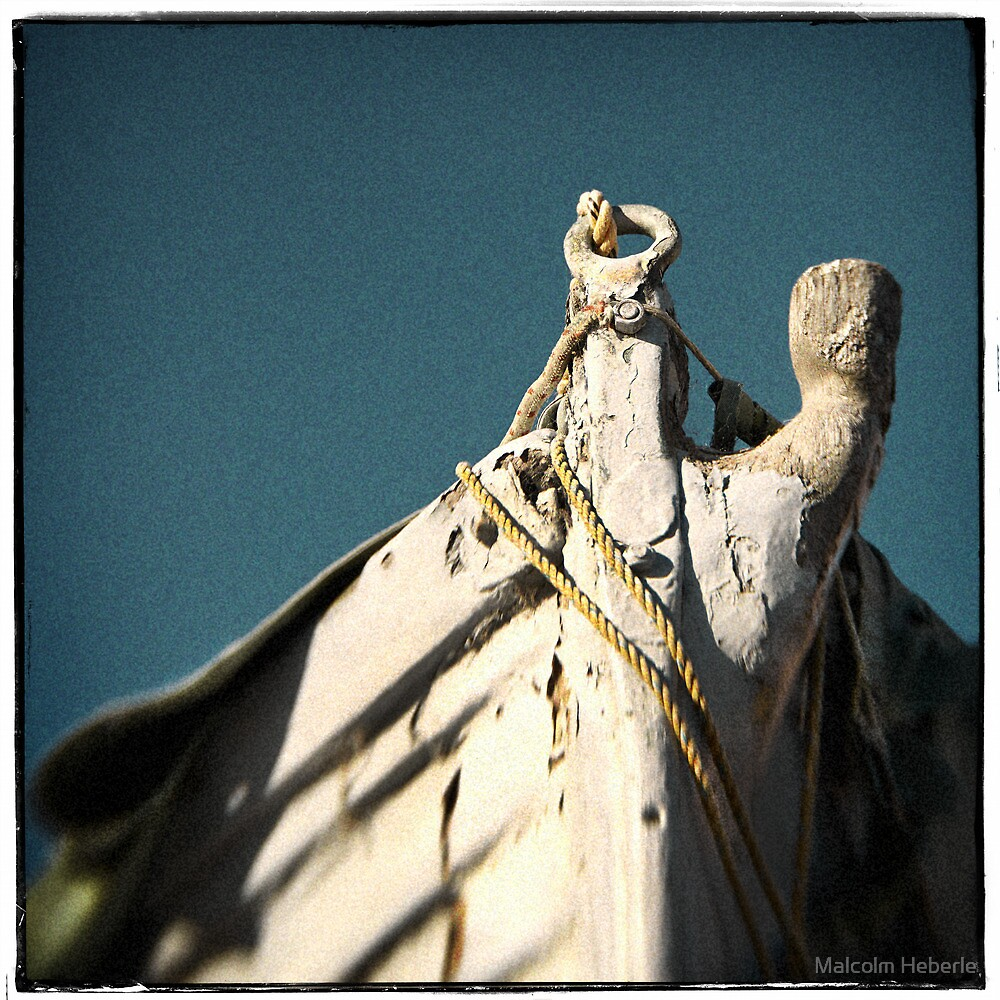 """"""" Bow of old boat """"  ... in need of repair by Malcolm Heberle"""