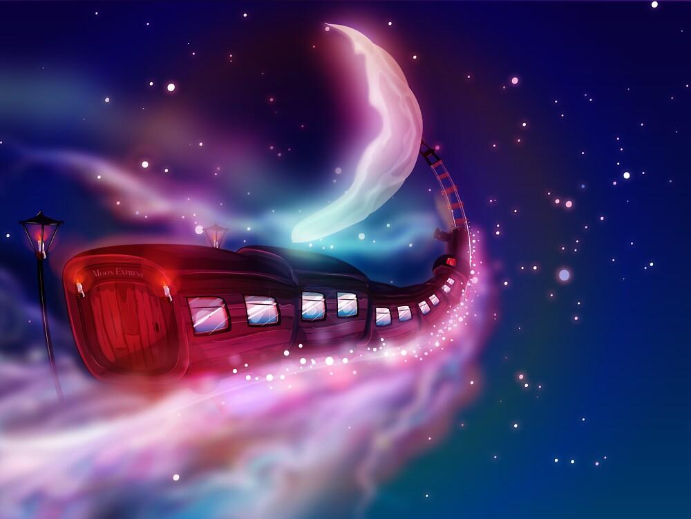 Train Voyage to the Moon by Nicholas Greenaway