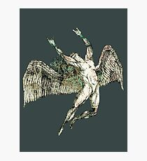 ICARUS THROWS THE HORNS - antique grunge ***FAV ICARUS GONE? SEE BELOW*** Photographic Print