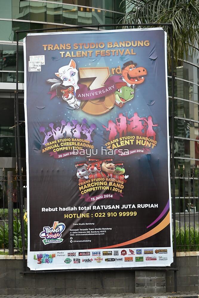 Trans Studio banner by bayu harsa