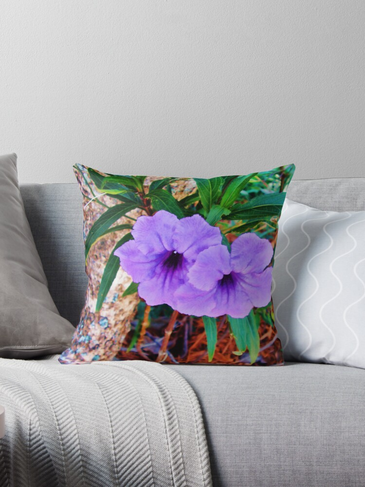 Bright Purple Twins Tote and Pillow by GolemAura